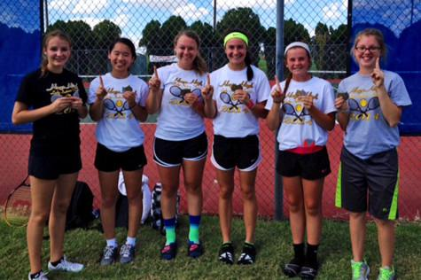 Girls' tennis plays at Cimarron