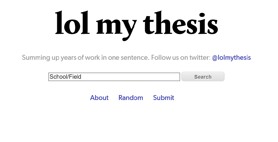 Build my thesis