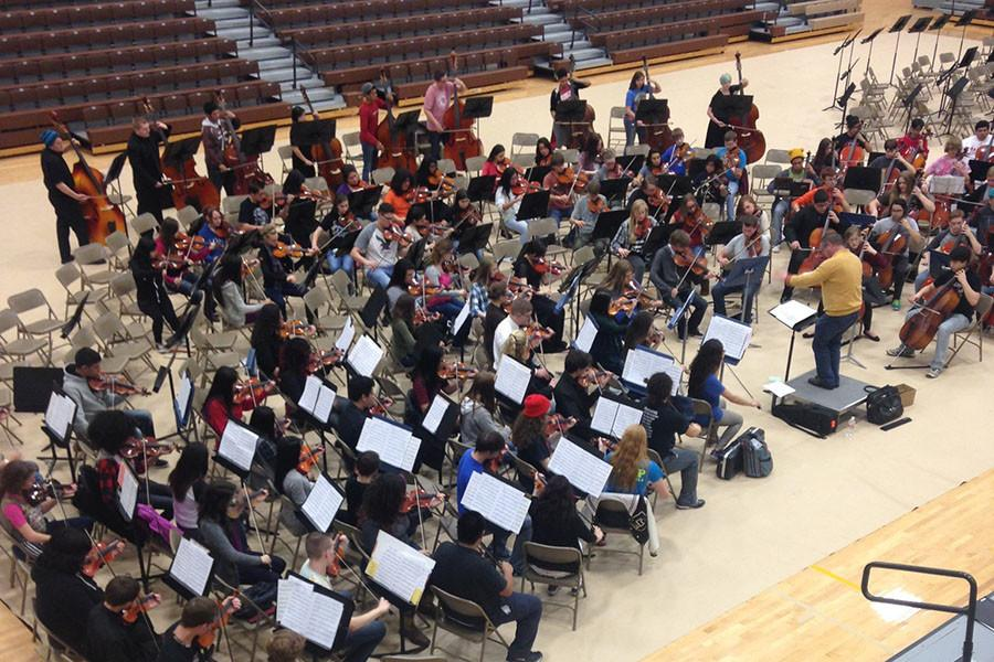 Students participate at Western Kansas Orchestra Festival