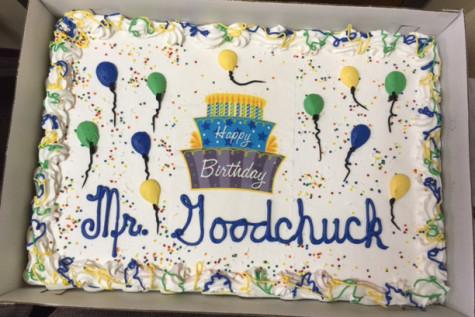 Mr. Goodchuck's birthday cake.