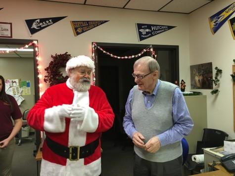 Mr. Goodchuck talks to Santa.