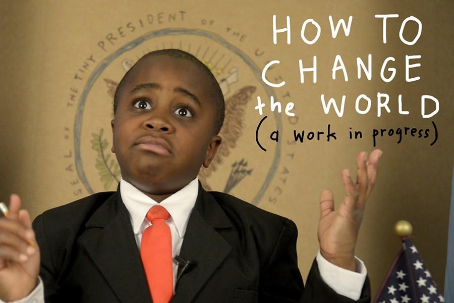 Kid President gives presentation