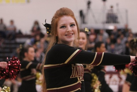 Senior cheerleading captain, Courtney Ellis.