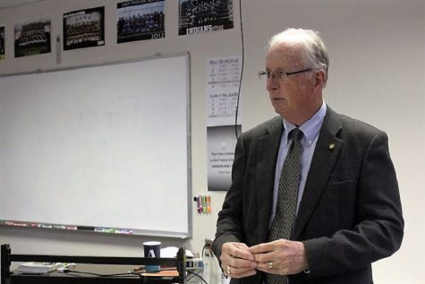 Eber Phelps visits AP Government classes