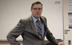 Kansas Senate candidate Alex Herman speaks to AP Government class