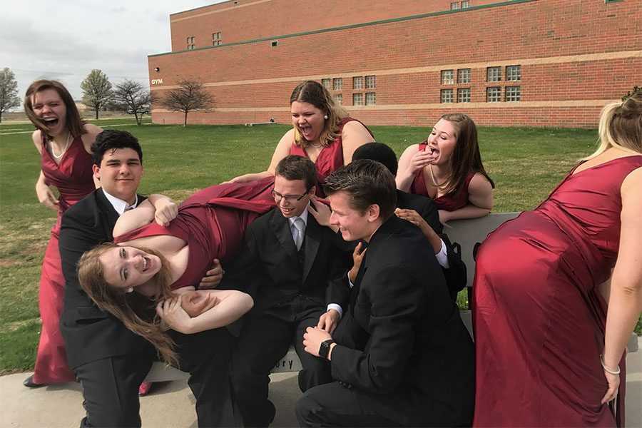 Senior+Chamber+Singers+take+a+picture+before+singing+for+the+judges.+The+chamber+singers+received+a+one+from+all+of+the+judges.
