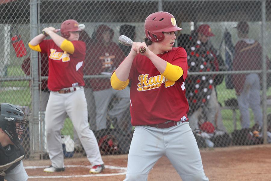 Freshman+Mason+Prescott+prepares+to+swing+at+a+recent+home+game.