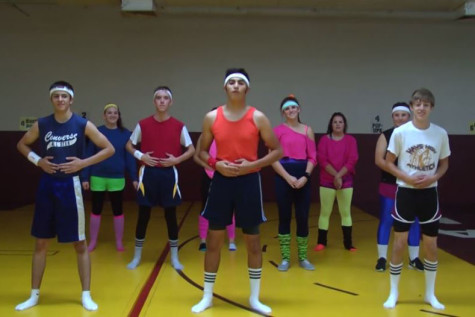 USD 489 Media creates 80s workout video