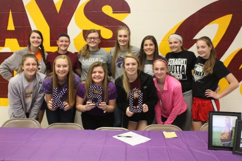 Senior Haley George signs to K-State