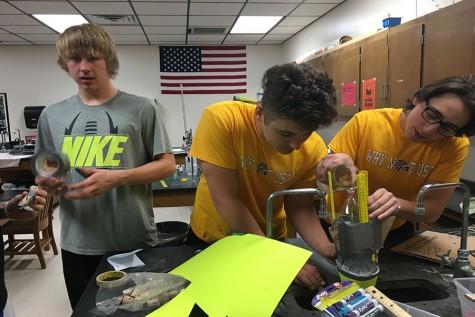 Chemistry bottle rocket experiment photos