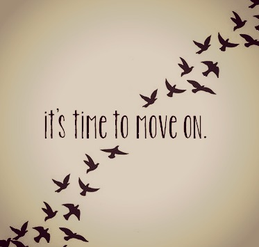 It helps to move on