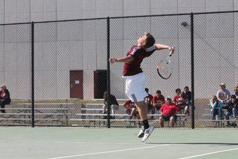 Boys tennis home game photos
