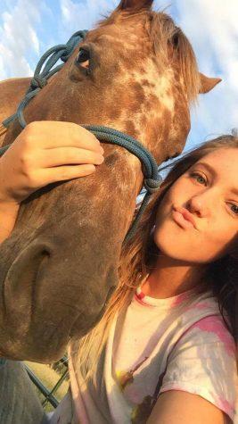 Ottley and her horse Emoji.