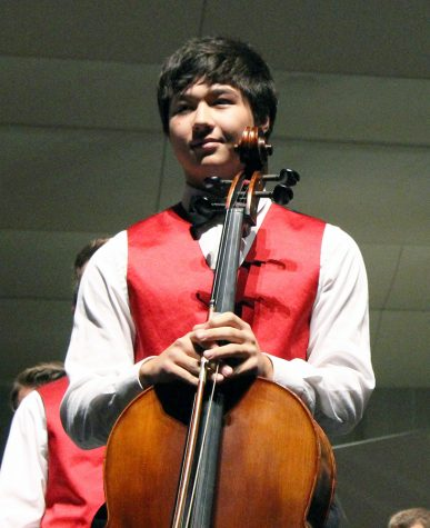 Callis at the Fall Orchestra and Vocal Concert.