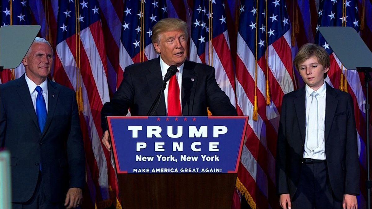 Donald Trump wins presidency.