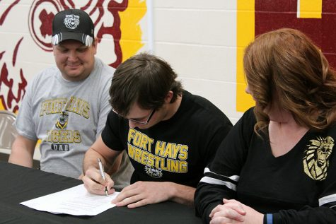 Senior Jonathan Springer signs to FHSU for wrestling