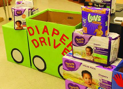 School wide Diaper Drive update