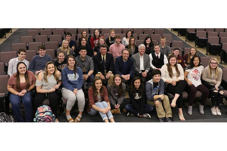 Students were given the opportunity to meet with position holders with the state government.