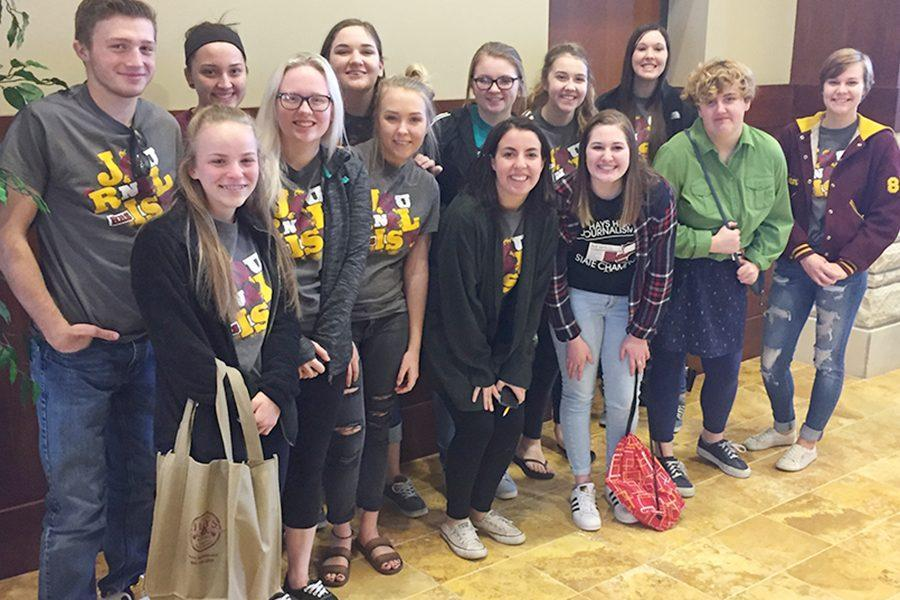 HHS+journalism+students+at+the+regional+competition.