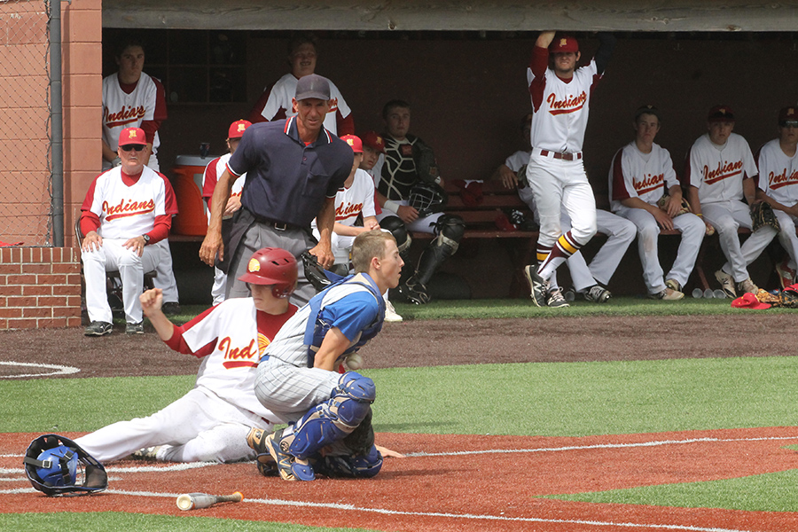 Senior+Cole+Murphy+sliding+into+home+plate+during+a+home+game+in+a+previous+season.