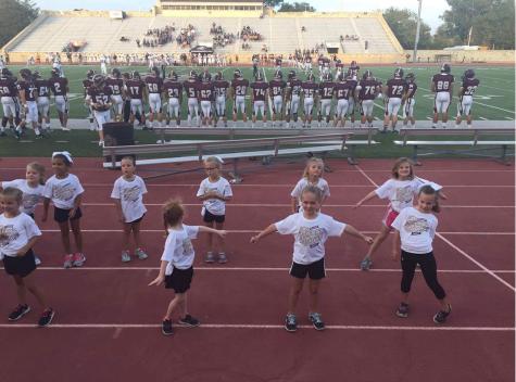 Cheerleaders host Little Indians Cheer Camp