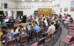 Musical rehearses at high school