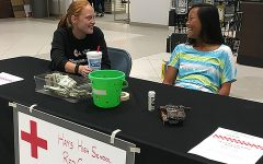 Red Cross Club does fundraiser at mall