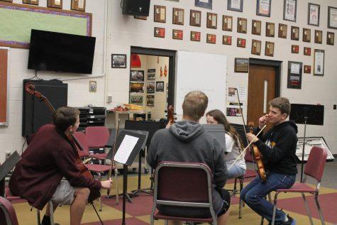 Quartet prepares for concert