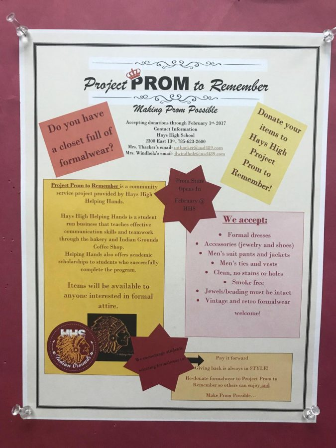 Project+Prom+to+Remember+is+being+run+by+students+enrolled+in+Helping+Hands.+The+project+gives+students+a+chance+to+look+through+formalwear+and+take+any+selections+they+like+at+no+cost+to+them.