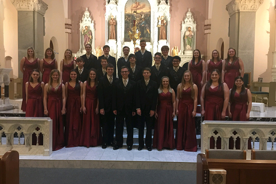 Chamber singers performed