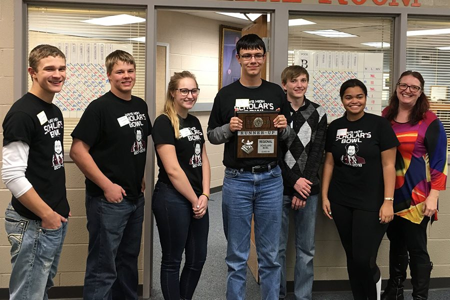 Scholars+bowl+placed+as+the+runner-up+at+the+regional+tournament+this+year.+This+status+allowed+them+to+continue+on+to+compete+at+state+for+the+first+time+in+the+history+of+the+Scholars+Bowl+team.