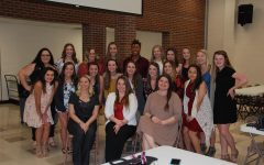 Cheerleaders attend end-of-season banquet