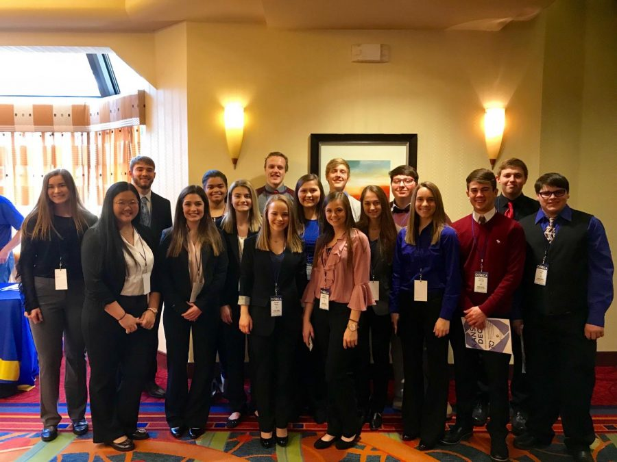19+DECA+members+competed+at+the+state+conference.+Members+prepared+for+months+in+advance%2C+writing+papers+and+preparing+presentations+to+earn+their+way+to+nationals.