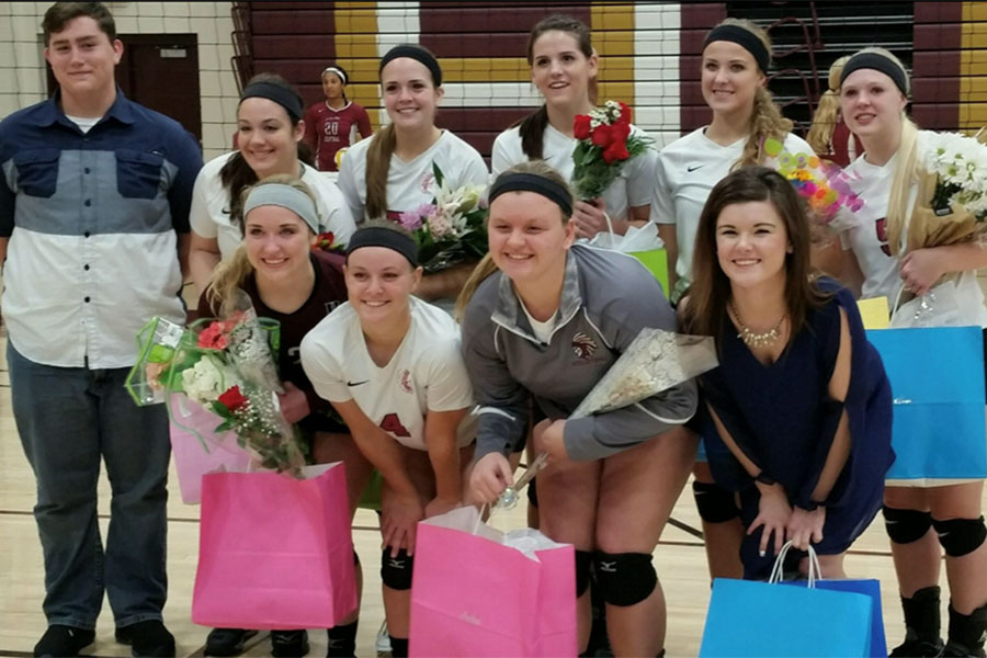 Nunnery's 2016 seniors. This class was her favorite because they were her first group of freshman and they share many memories.